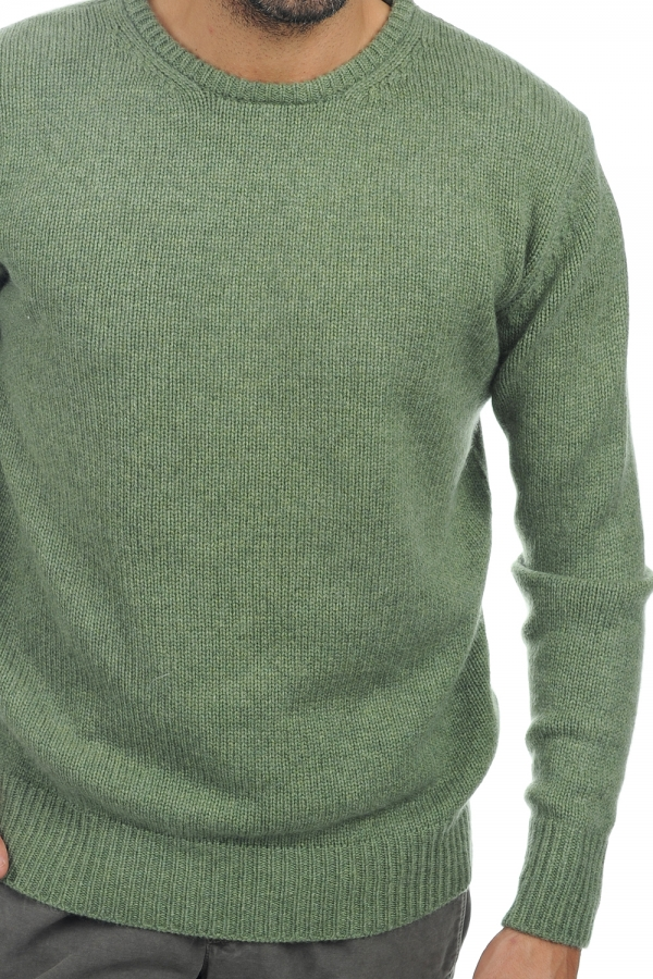 cachemire pull homme col rond bilal vert chine s