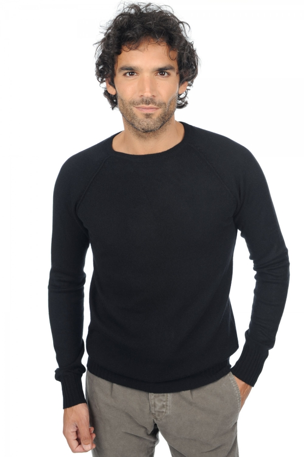 cachemire pull homme col rond youcef noir m