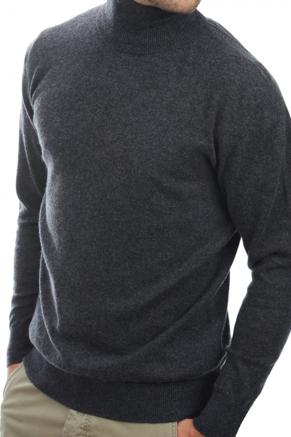 cachemire pull homme col roule edgar anthracite chine m