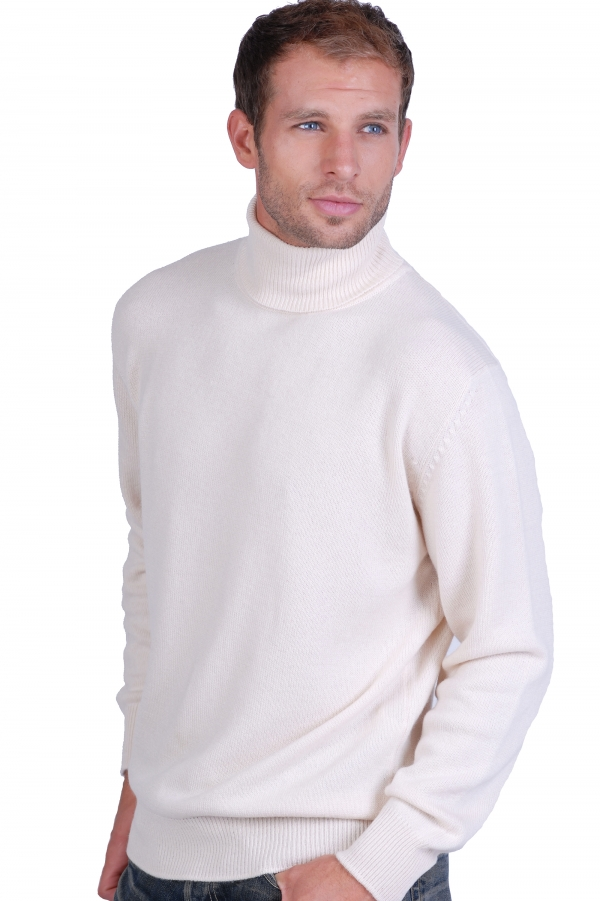 cachemire pull homme col roule edgar ecru s