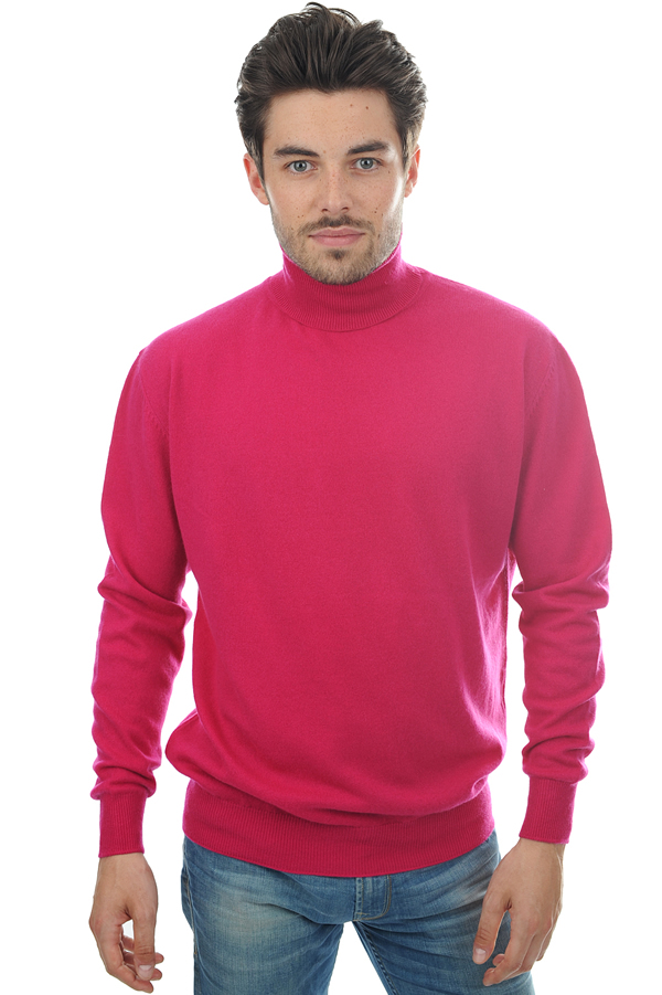 cachemire pull homme col roule edgar fuchsia s
