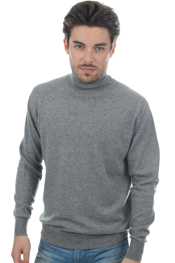 cachemire pull homme col roule edgar gris chine s