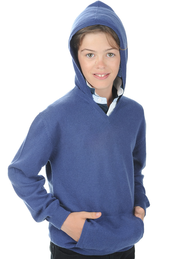 cachemire pull homme col v cloclo boy bleu male 6 ans