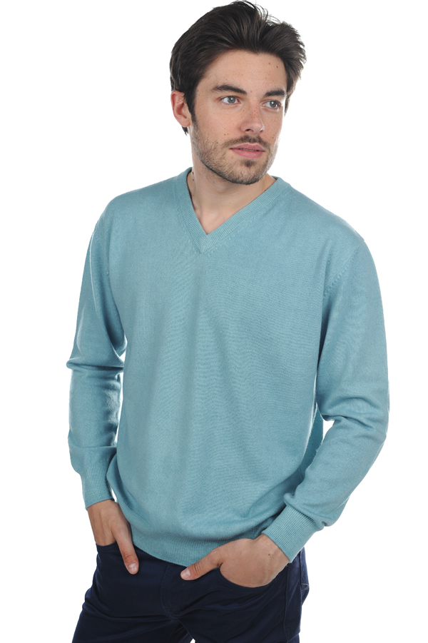 cachemire pull homme col v gaspard tourmaline m