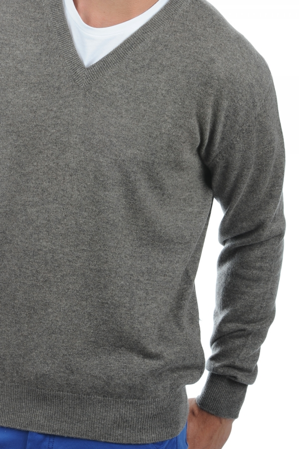 cachemire pull homme col v hippolyte marmotte chine l
