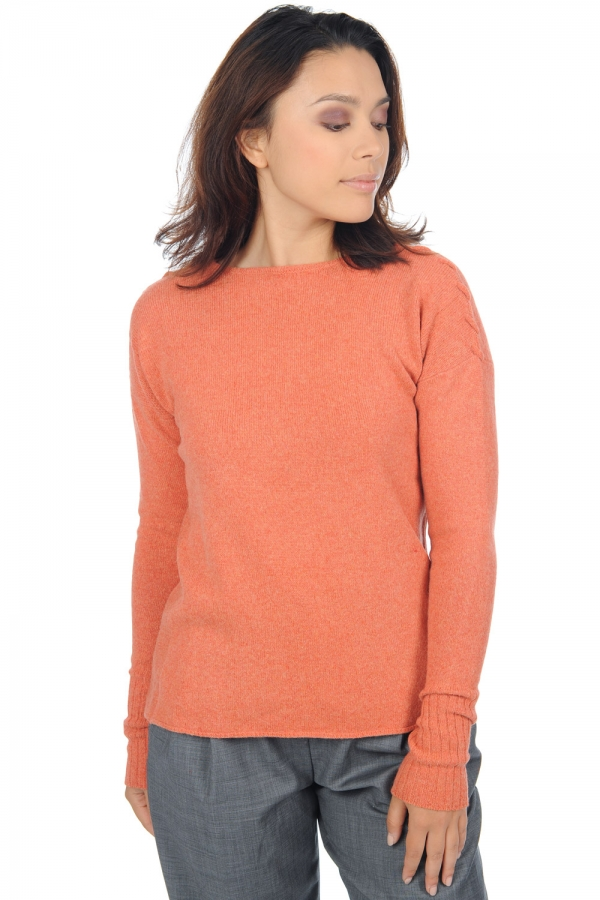 yak pull femme col rond griotte tender peach s