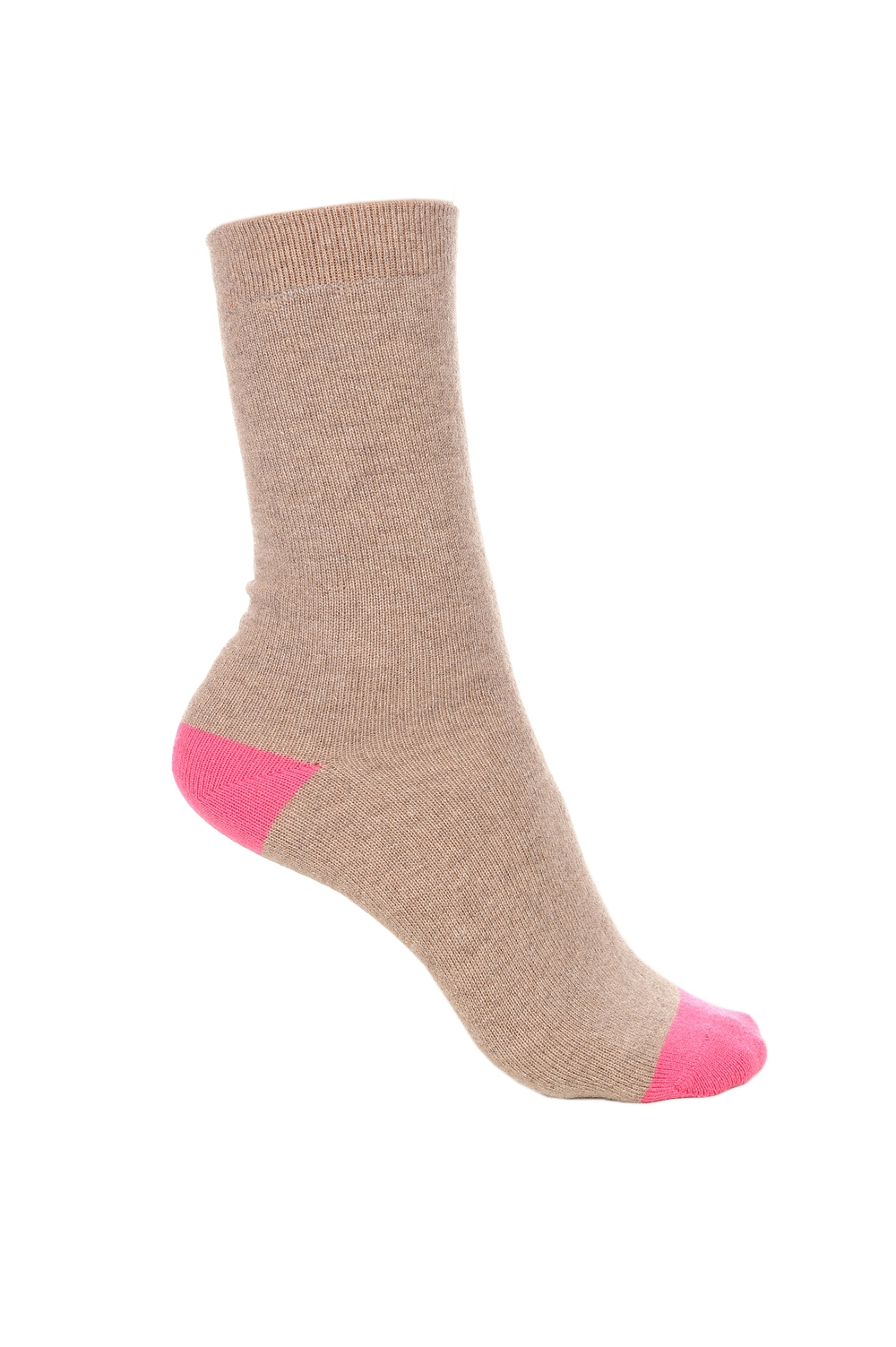 Cachemire & Elasthanne accessoires chaussettes frontibus natural brown chine rose shocking 39 42