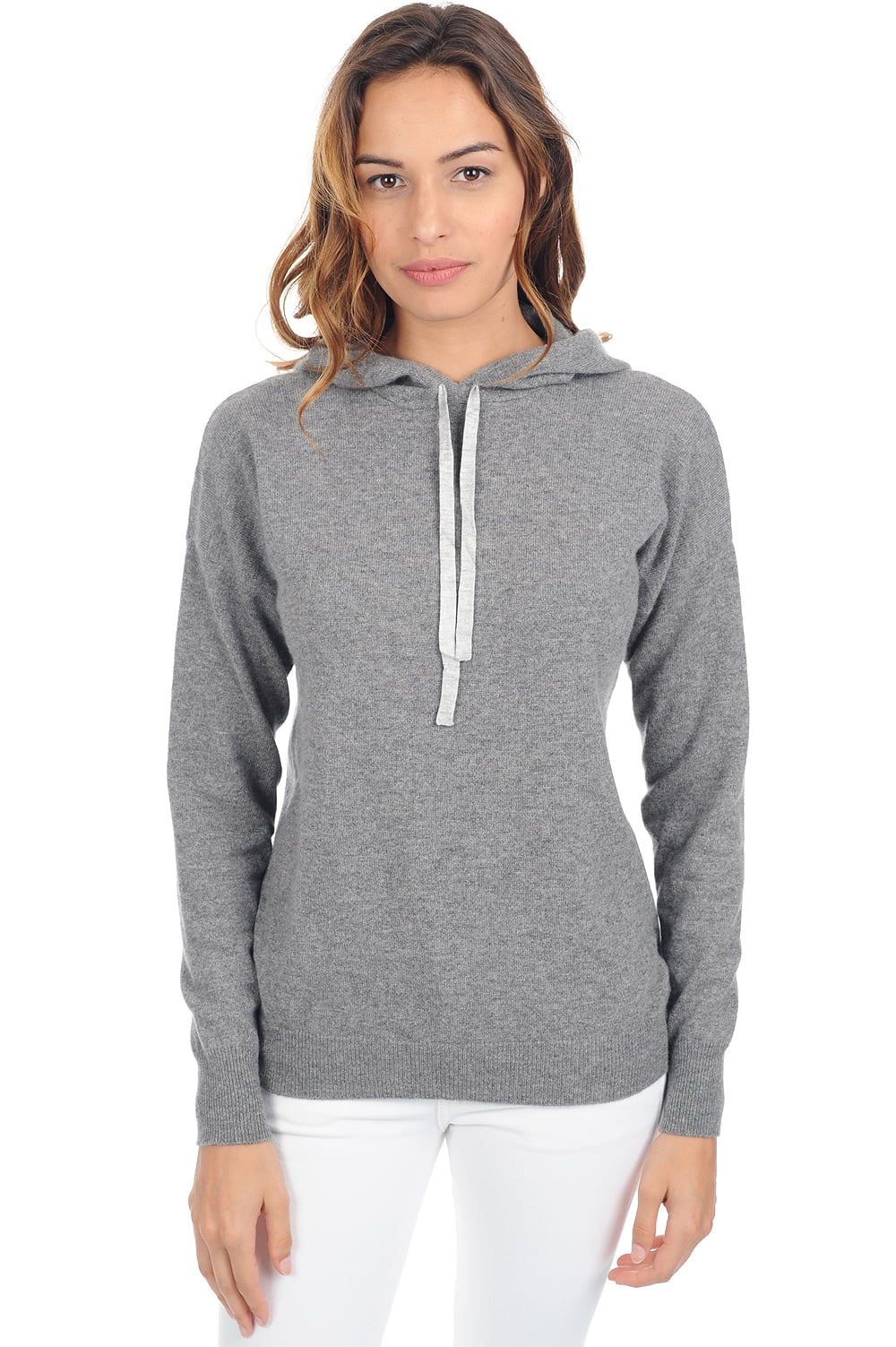 Cachemire pull femme col rond sigma gris chine t1