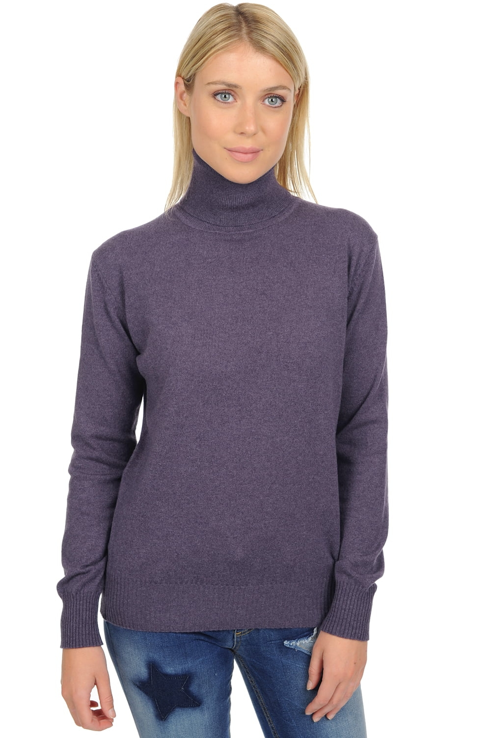Cachemire pull femme col roule lili mure 3xl