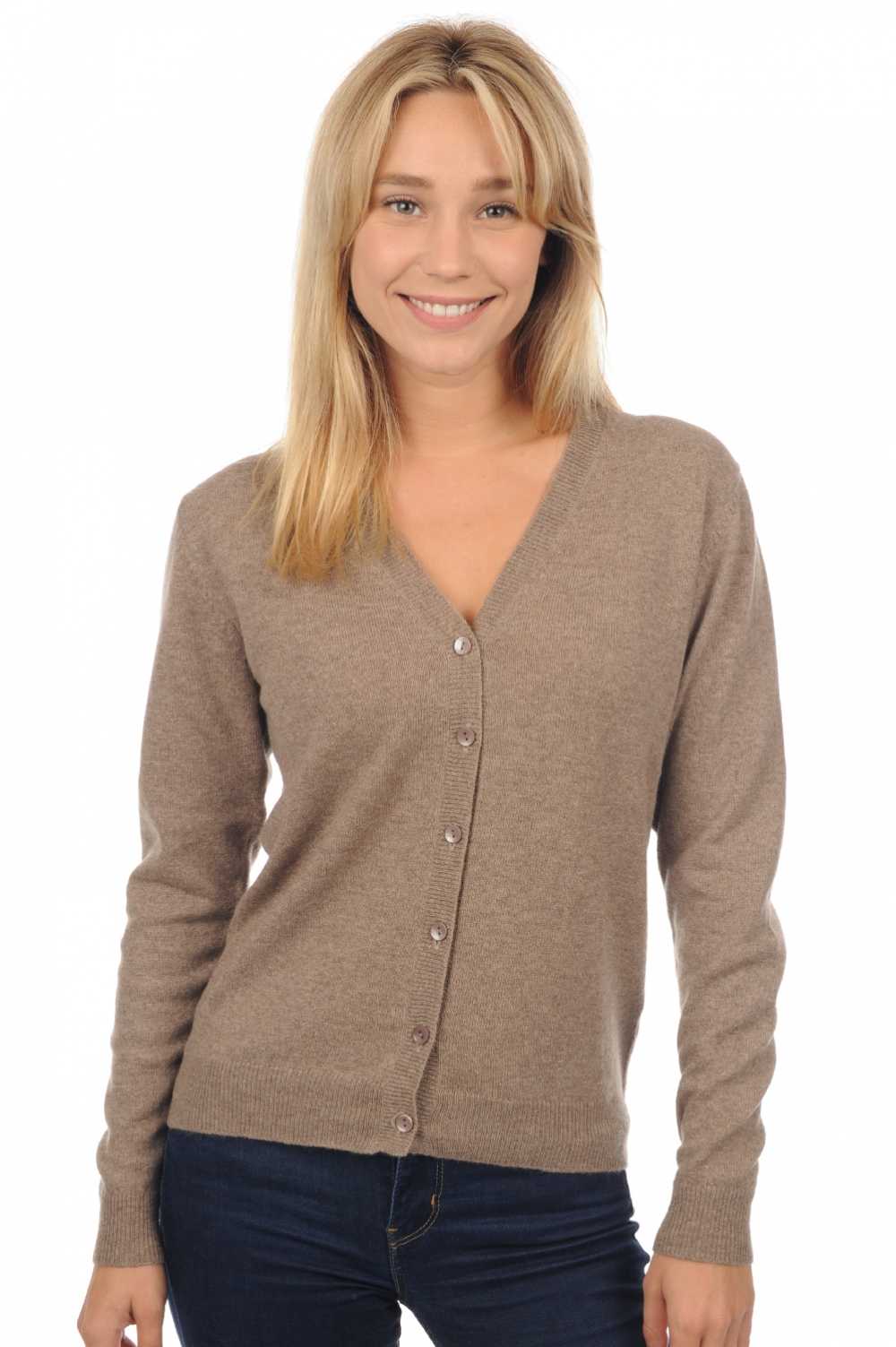 Cachemire pull femme taline natural brown chine m