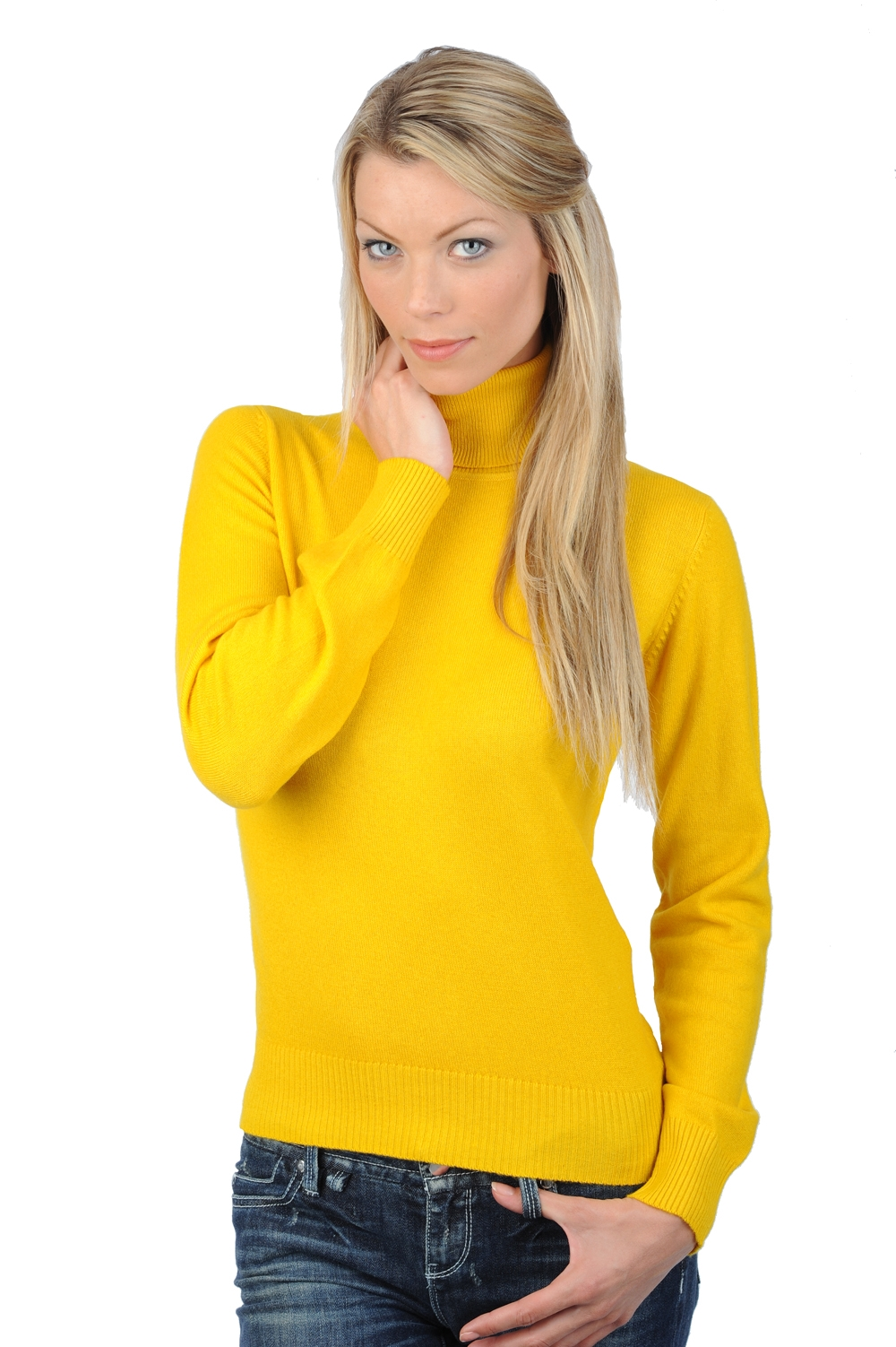 cachemire pull femme col roule lili tournesol s