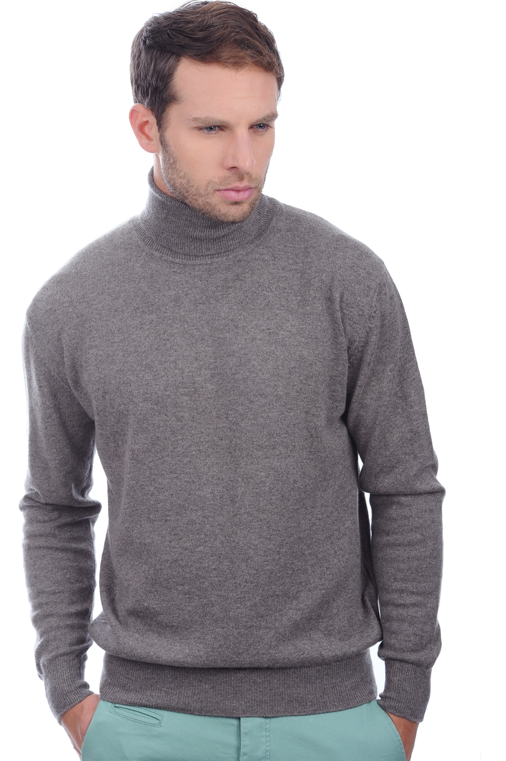 cachemire pull homme col roule edgar marmotte chine s