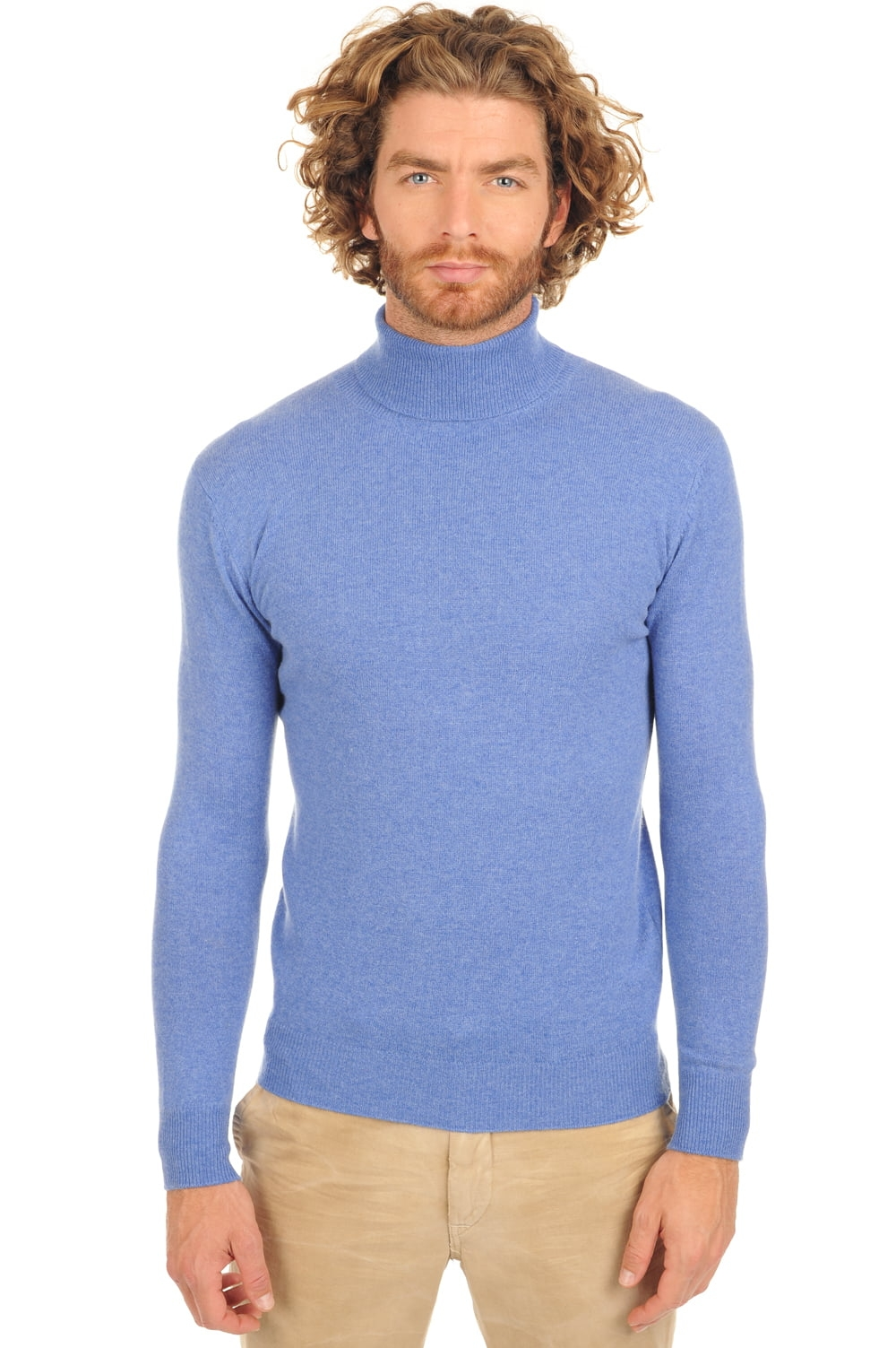 cachemire pull homme col roule tarry really blue m