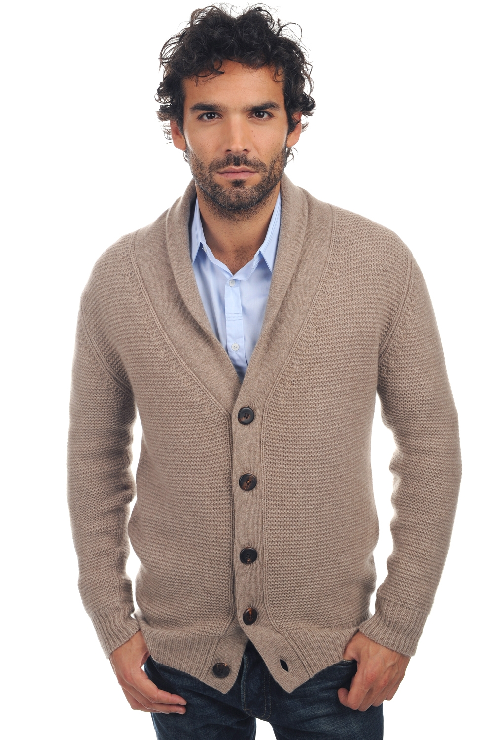 cachemire pull homme epais maxwell natural brown chine m