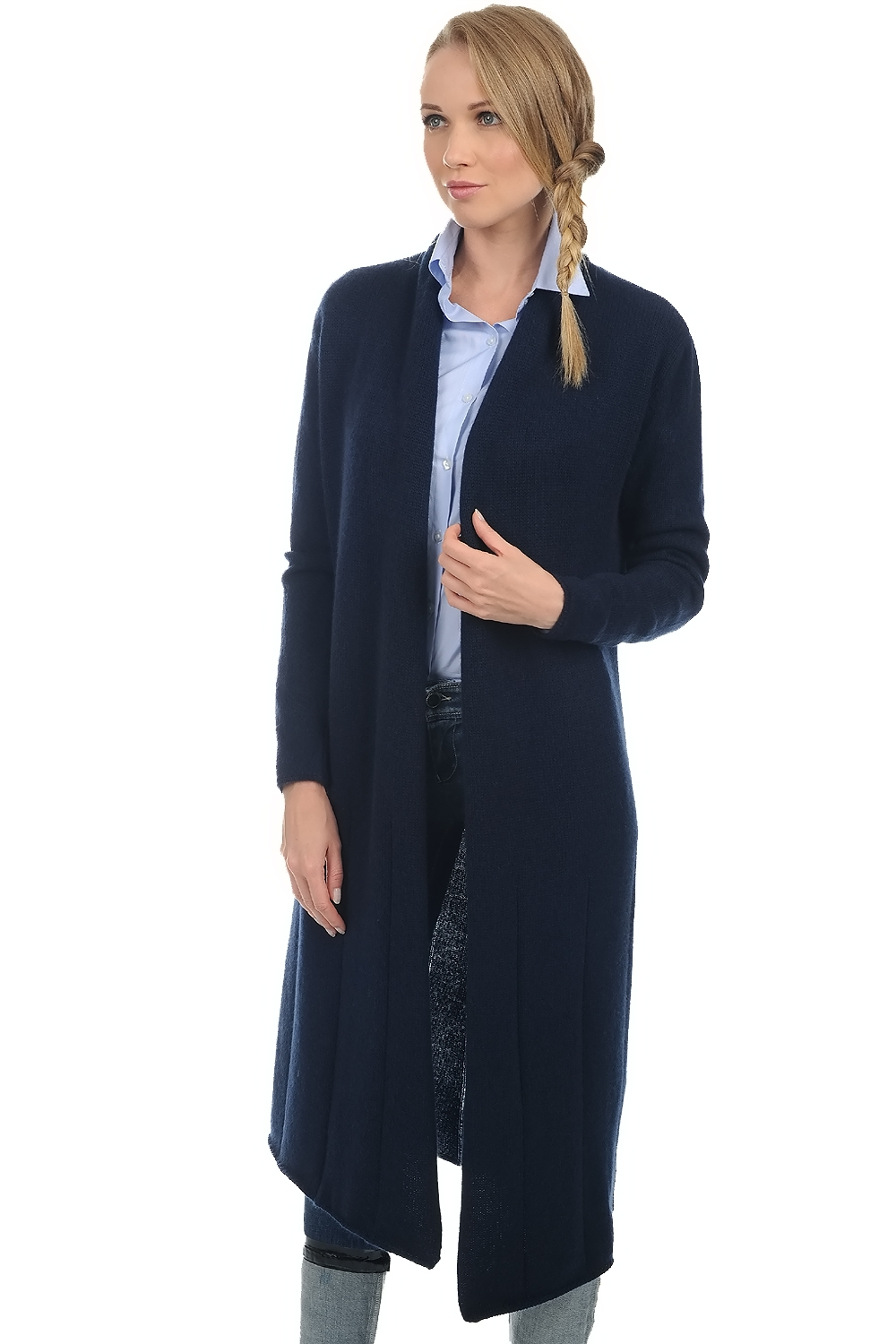 cachemire robe manteau femme stacy marine fonce s