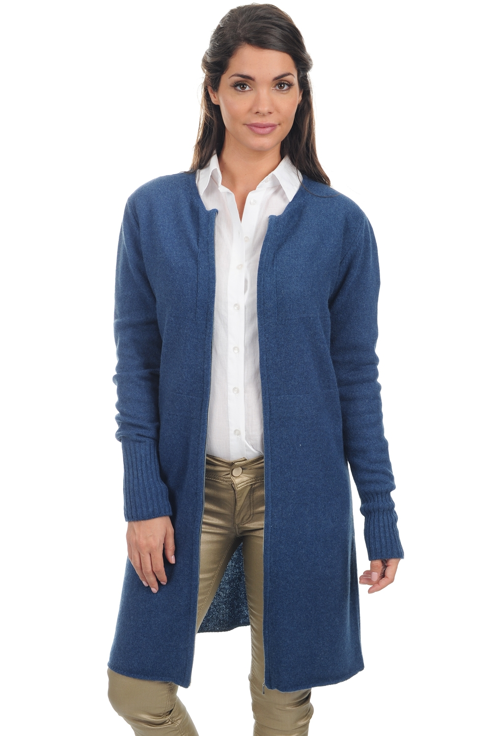 yak pull femme col rond nadjet bleu stellaire l